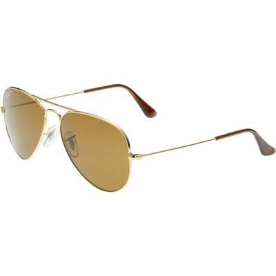 RAY-BAN Aviator Sonnenbrille gold/braun