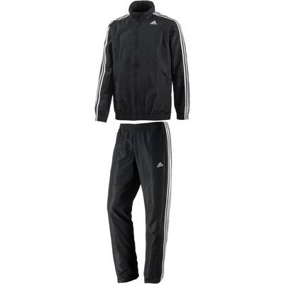 adidas TS Basic 3S Trainingsanzug Herren schwarz