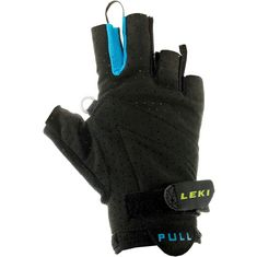 LEKI Prime Shark Nordic Walking Handschuhe schwarz/blau/grün