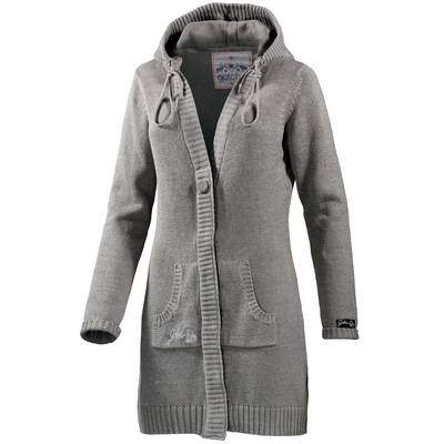 Gotcha Summer Denieze Strickjacke Damen grau