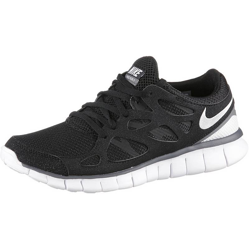 Nike Free Run 2 Sneaker Damen blackwhite-dark grey