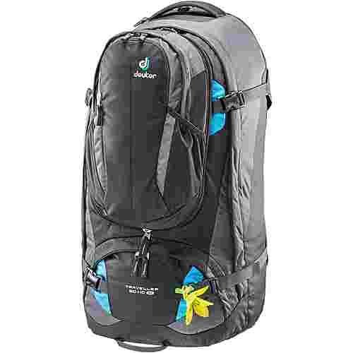 Deuter Traveller 60+10 SL Reiserucksack Damen black-turquoise