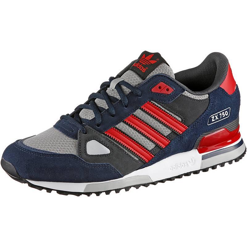 adidas ZX 750 Sneaker Herren navy/rot