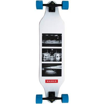 "Madrid Longboard Weezer 36"" Photo Basic Longboard-Komplettset weiß/schwarz"