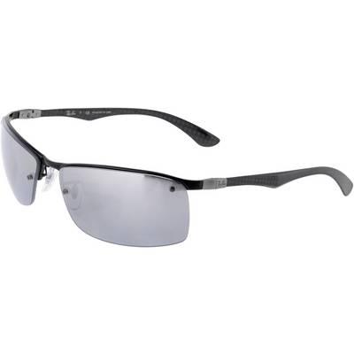RAY-BAN ORB8315 002/82 63 polarized Sonnenbrille grau/transparent