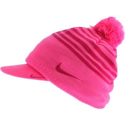 Nike Winter Knit Set Bommelmütze Damen pink