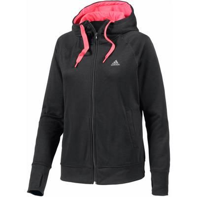 adidas Sweatjacke Damen schwarz/rot
