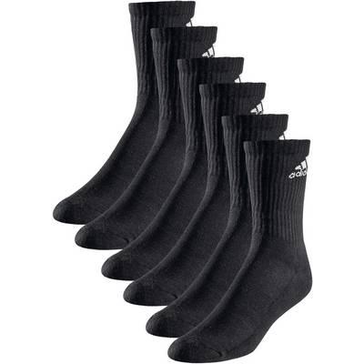 adidas 3S Performance Crew Socken Pack schwarz