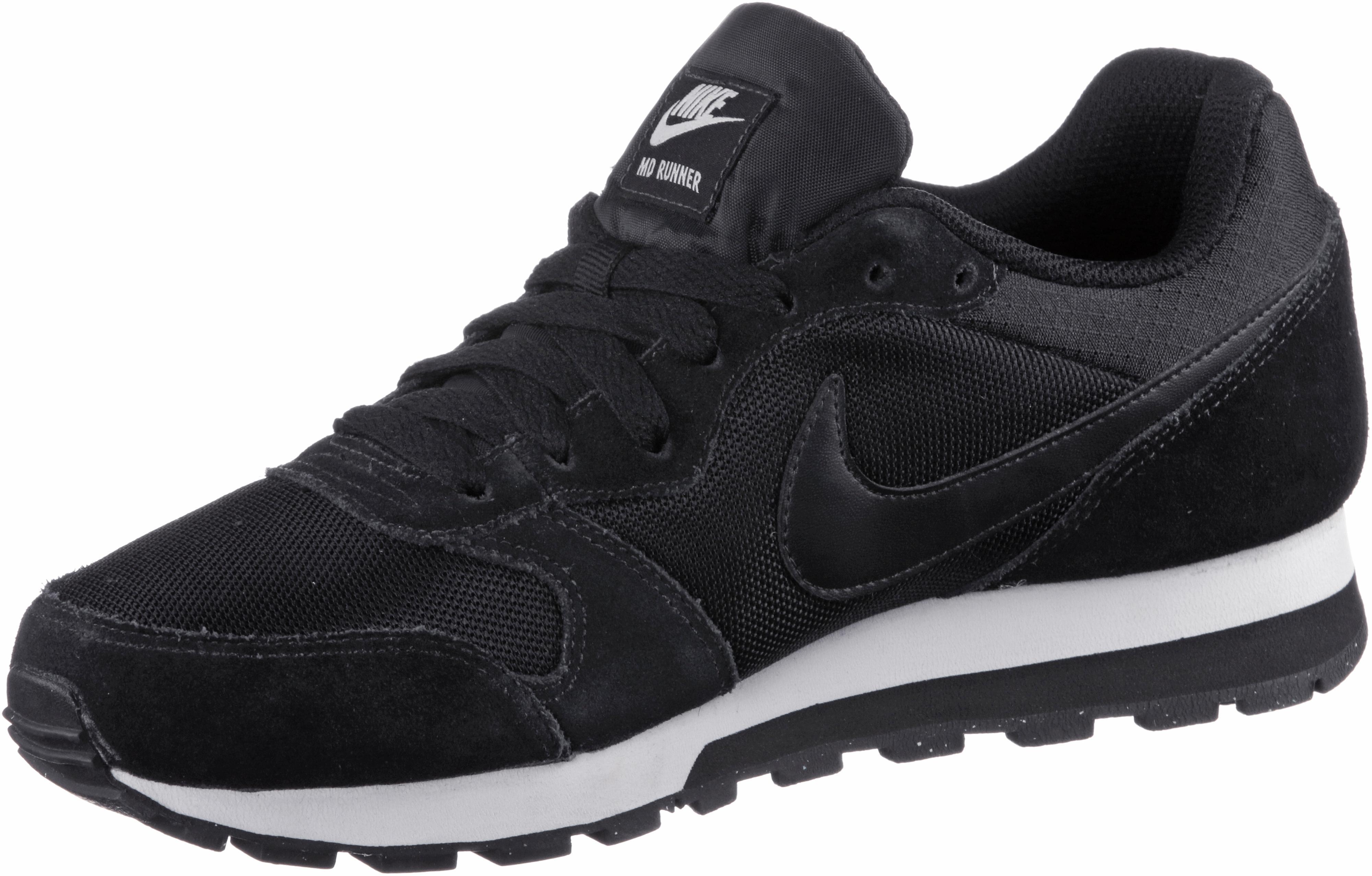 Nike MD Runner 2 Sneaker Damen blackblack white im Online Shop von SportScheck kaufen