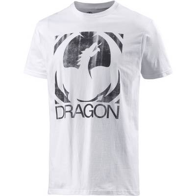 Dragon Big Block Printshirt Herren weiß