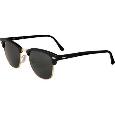 RAY-BAN Clubmaster Sonnenbrille schwarz/schwarz