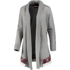 White Season Strickjacke Damen hellgrau