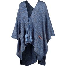White Season Poncho Damen blau