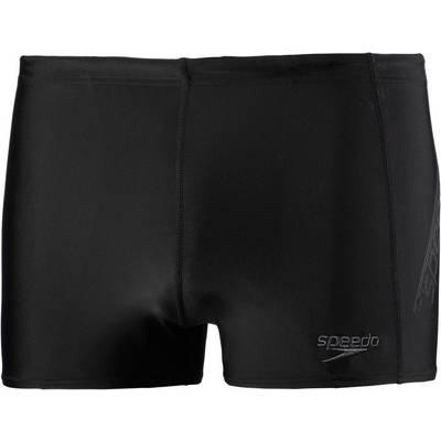SPEEDO Sports Logo Aquashort Kastenbadehose Herren schwarz/grau