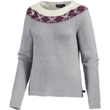 White Season Strickpullover Damen hellgrau