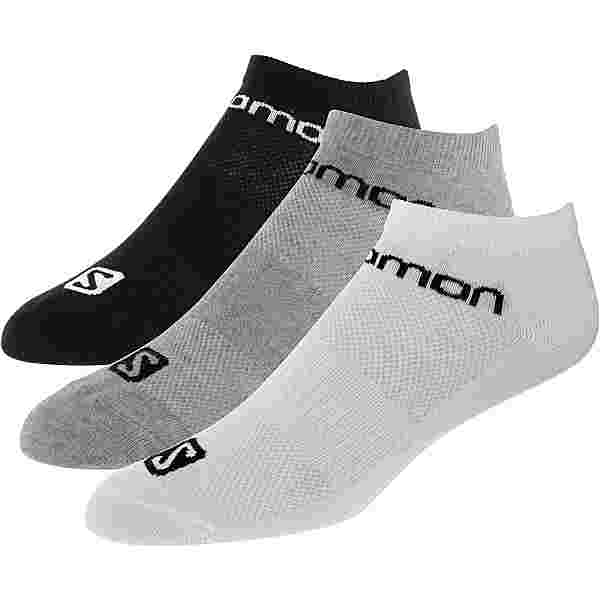 Salomon Sneakersocken schwarz-grau-weiß