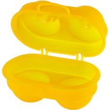 Coghlans Eierbox für 2 Eier Campinggeschirr gelb