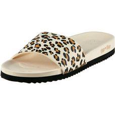 Flip Flop Pool Print Pantoletten Damen beige leopard