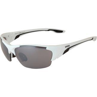 Uvex Blaze III Sonnenbrille white black-clear-litemirror orange-litemirror silver