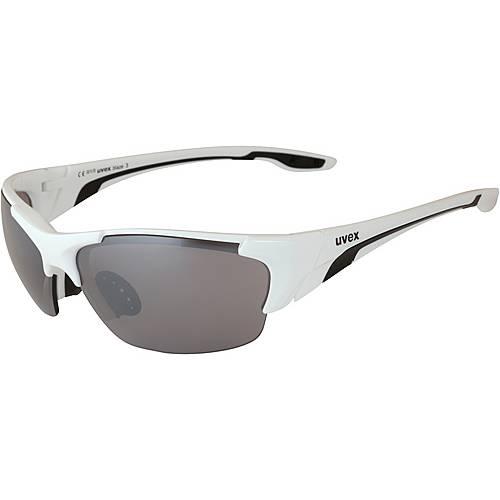 Uvex Blaze III Sonnenbrille white black/litemirror silver