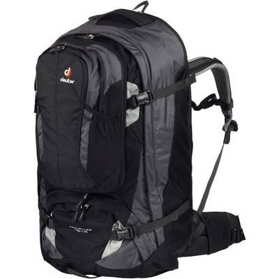 Deuter Traveller 70+10 Reiserucksack schwarz/silberfarben
