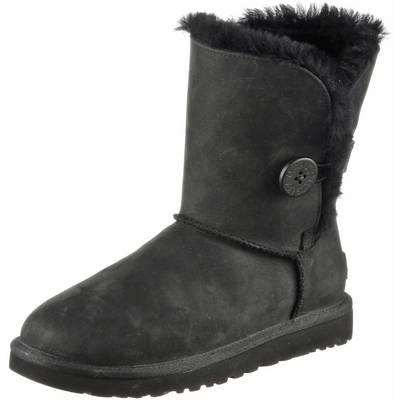 Ugg Classic Button Leather Bootie Damen schwarz