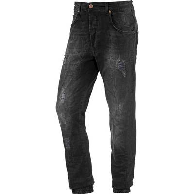 VSCT Noah Slim Fit Jeans Herren black destroyed denim