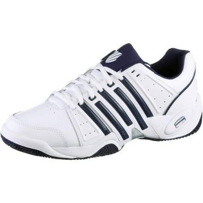 K-Swiss Accomplish II Leather Tennisschuhe Herren weiß/blau/silberfarben