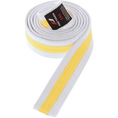 Pro Touch Budogürtel Budo-Gürtel weiß/gelb