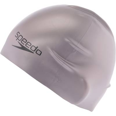 SPEEDO Plain Moulded Silicone Cap Badekappe silber