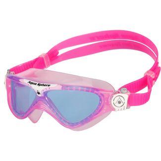 Aqua Sphere Vista Junior Schwimmbrille Kinder pink/weiß