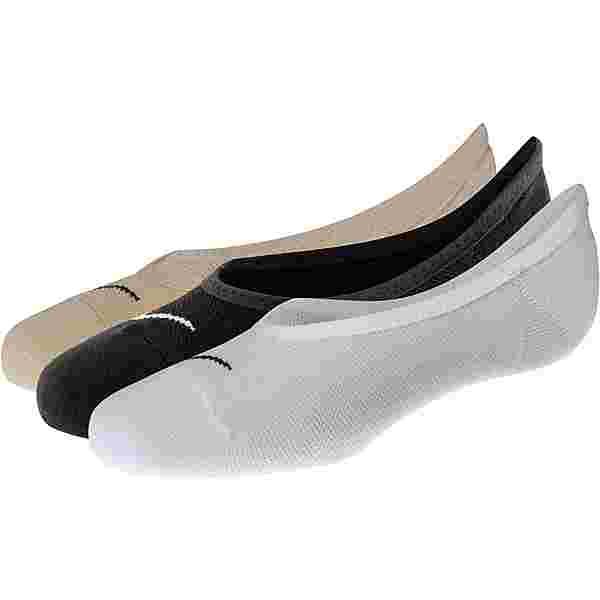 Nike Performance Lightweight Sportsocken Damen beige-weiß-schwarz