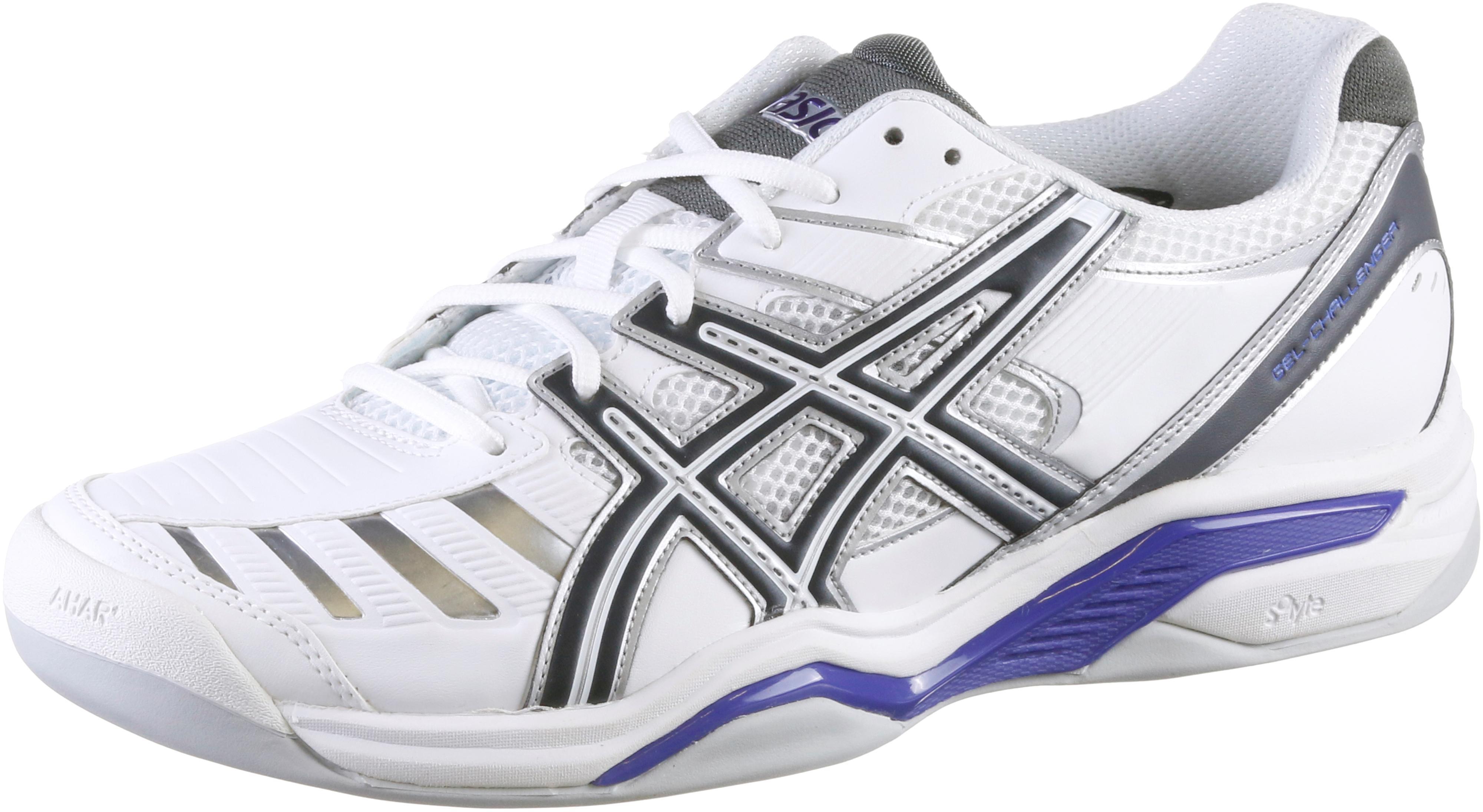 ASICS Gel Challenger 9 Indoor Tennisschuhe Damen weiß/blau im Online Shop  von SportScheck kaufen