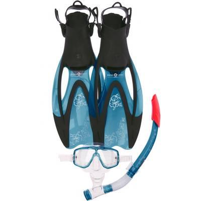 AQUA LUNG Diva LX Schwimmset Damen hellblau/schwarz