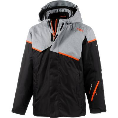 CMP Skijacke Kinder schwarz/grau/orange