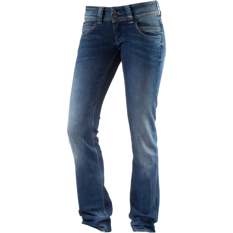 Pepe Jeans Venus Straight Fit Jeans Damen in blau, Größe: 26 / 34