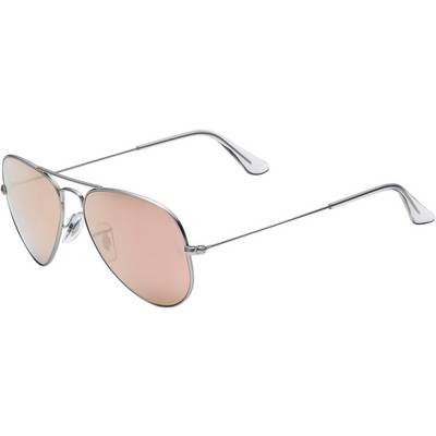RAY-BAN Aviator Sonnenbrille silberfarben/orange