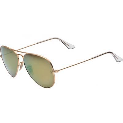 RAY-BAN Aviator Sonnenbrille gold/grün