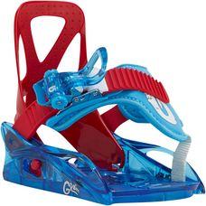 Burton Grom Snowboardbindung Kinder rot/blau
