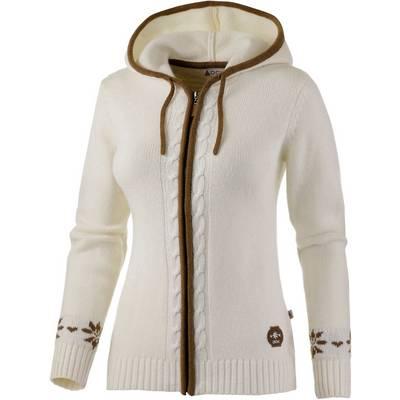 OCK Knited Jacket Strickjacke Damen weiß
