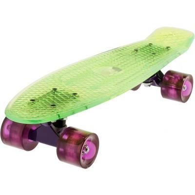 "AREA Candyboard 22,5"" transparent Skateboard-Komplettset transparent/neongelb"