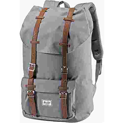 Herschel Rucksack Little America Daypack grey-tan synthetic leather
