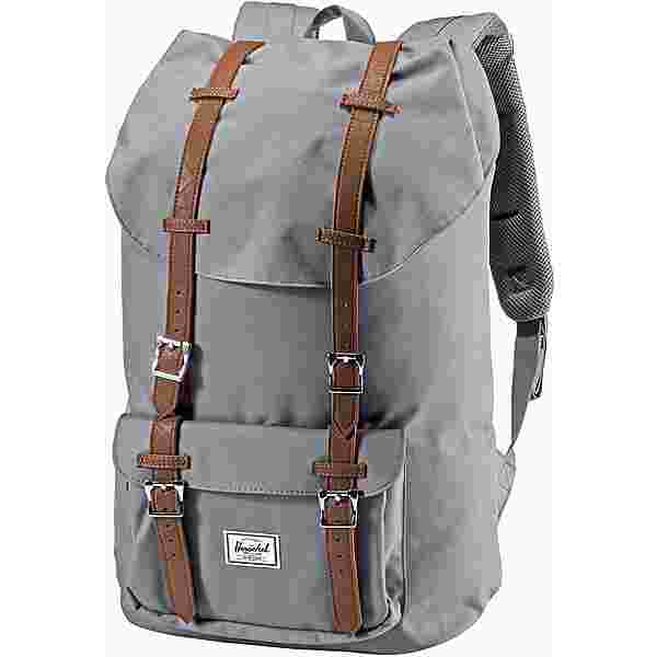 Herschel Rucksack Little America Daypack grey-tan synthetic leather
