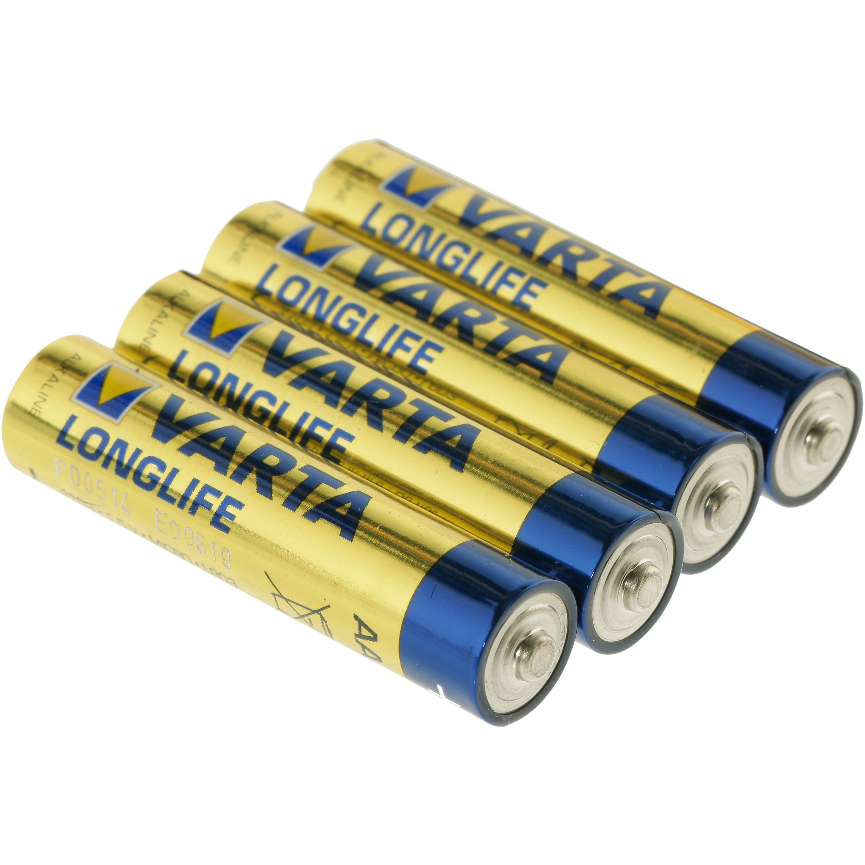 Varta Longlife AAA LR03 Micro Batterie
