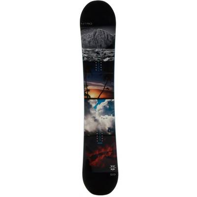Nitro Snowboards Team Exposure Gullwing All-Mountain Board Herren schwarz
