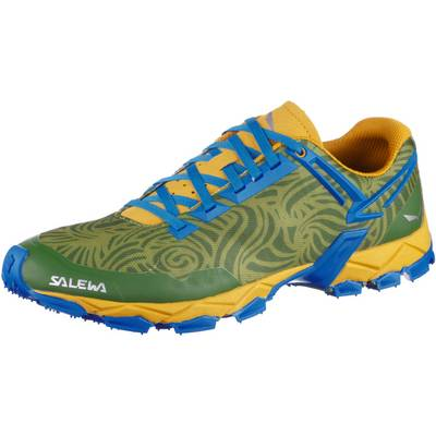 SALEWA MS Lite Train Mountain Running Schuhe Herren grün/gelb/blau