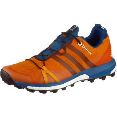 adidas Terrex Agravic Mountain Running Schuhe Herren orange/blau