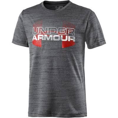 Under Armour T-Shirt Kinder schwarz/rot