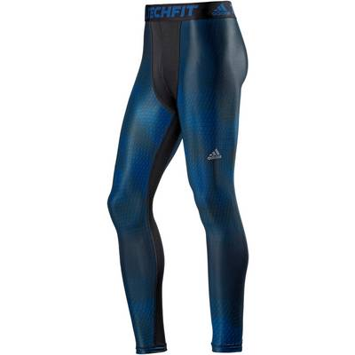 adidas Tech Fit Chill Tights Herren blau/schwarz