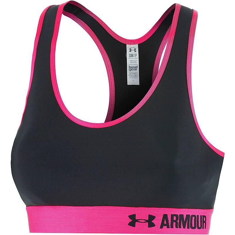 7885700aa86c Under Armour Armour Mid Sport-BH Damen anthrazit pink im Online Shop ...